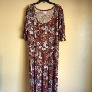 LulaRoe Floral Ana Maxi Dress Sz 3XL